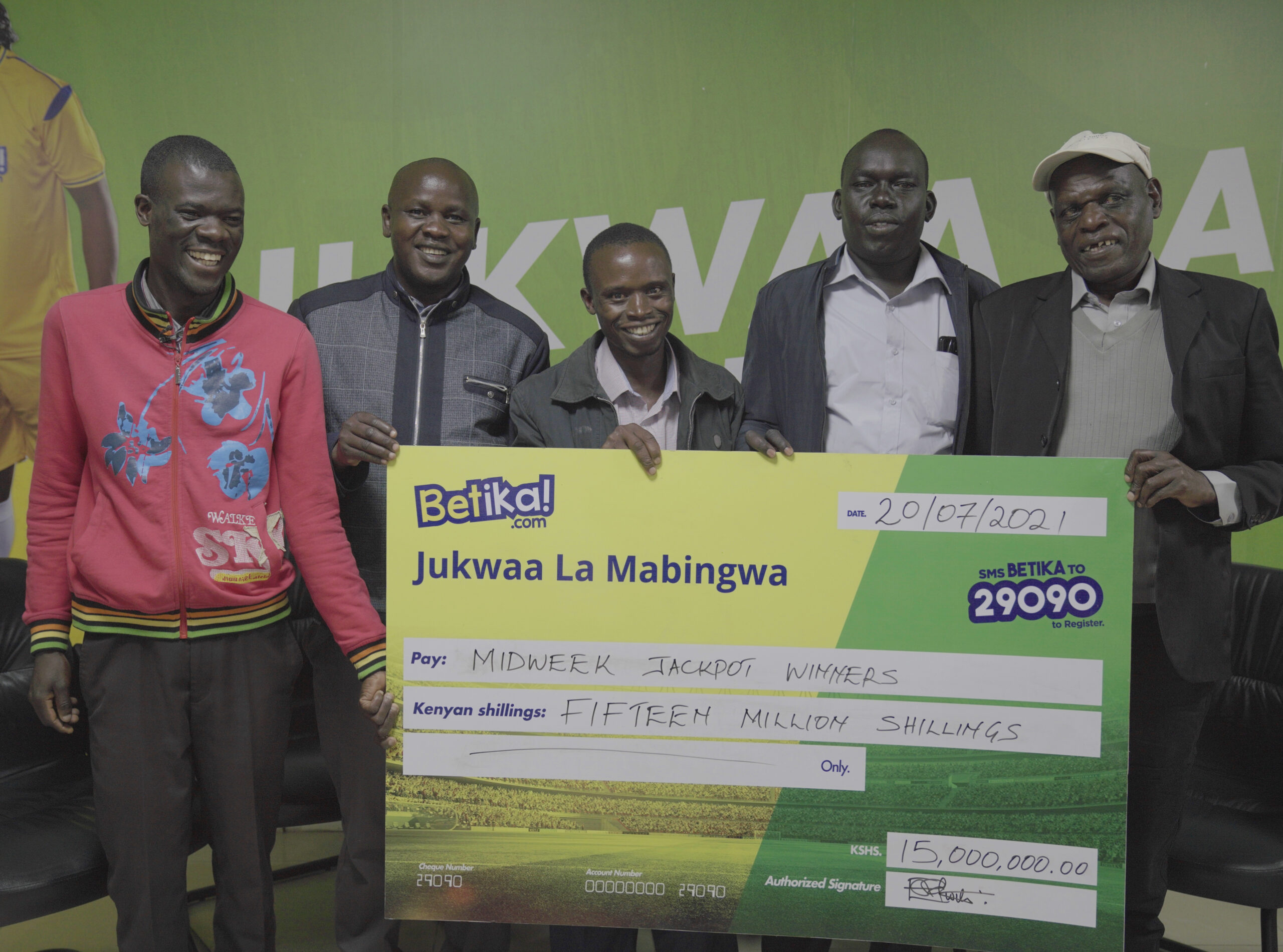 A Quintet of Winners Bag Betika Ksh15 Midweek Jackpot