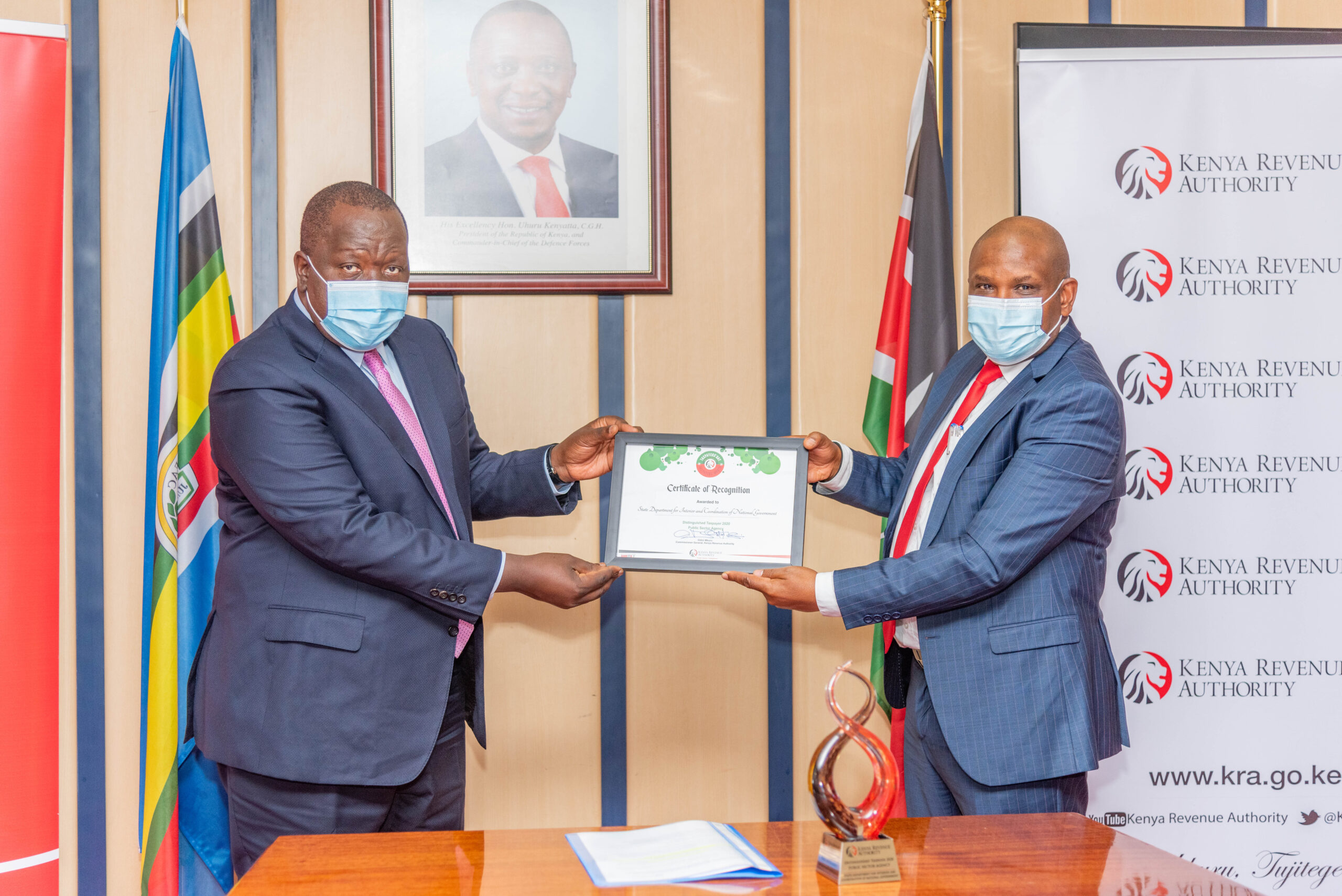 Matiangi Steers Ministry of Interior to Win Tax Payers Award