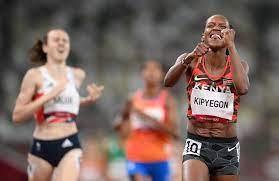 Tokyo 2020: Kenya's Faith Kipyegon Break's Olympics Record Strikes Gold