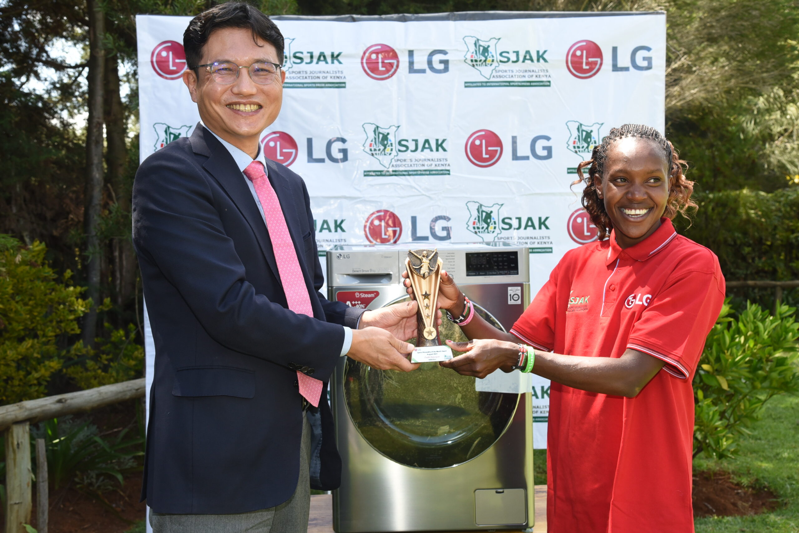 OLYMPIC CHAMP FAITH KIPYEGON CROWNED LG SPORTS PERSONALITY AUGUST WINNER