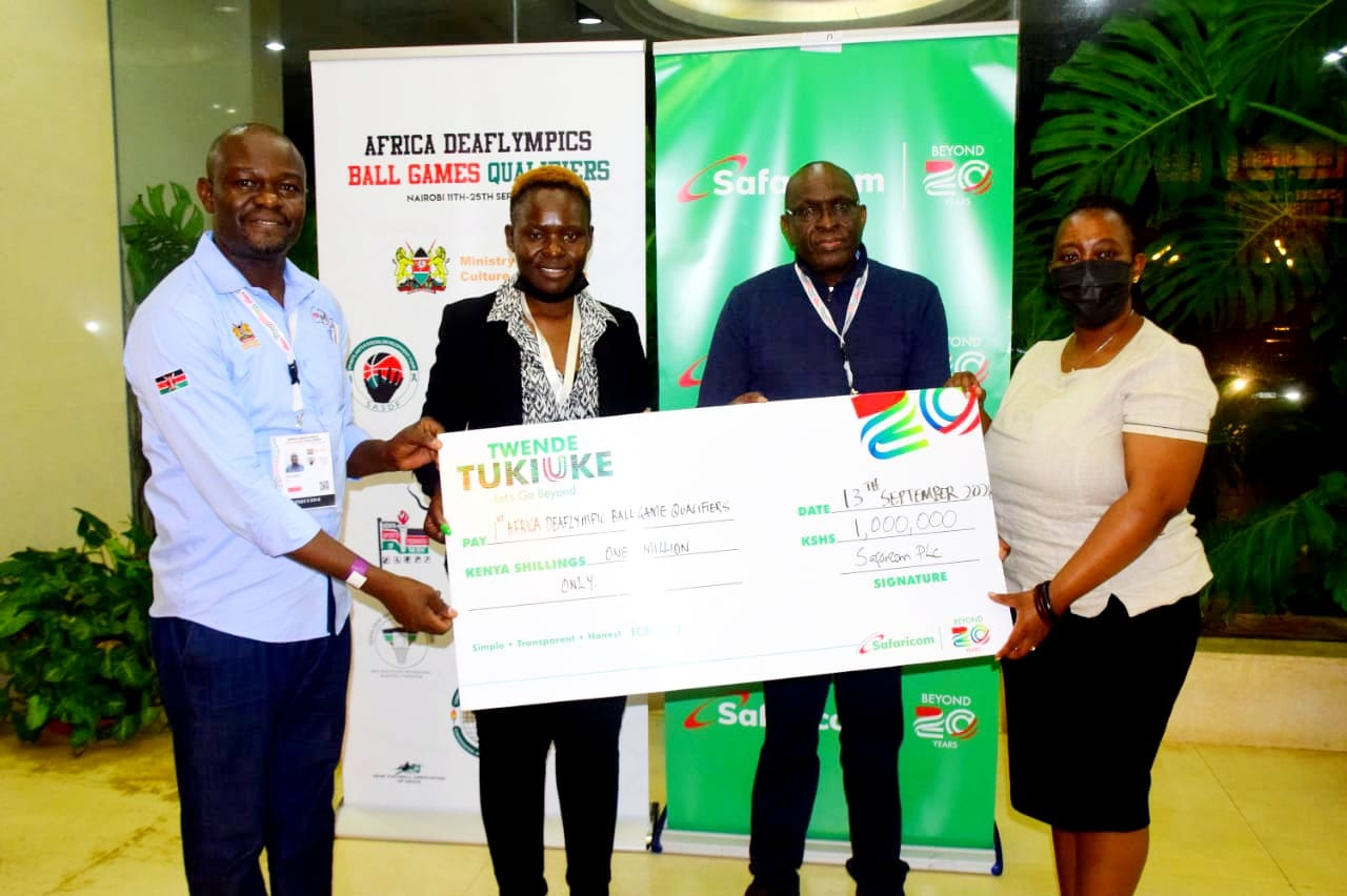 Kenyan Deaflympics Team Receives KES 1 Million Boost From Safaricom