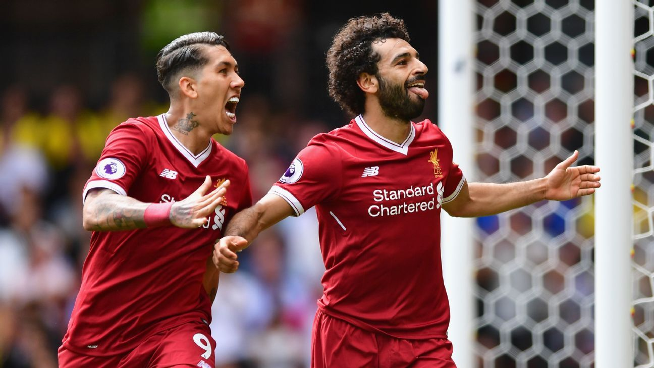 Uefa Champions League: Salah, Firmino Net a Double Each in Liverpool's Victory