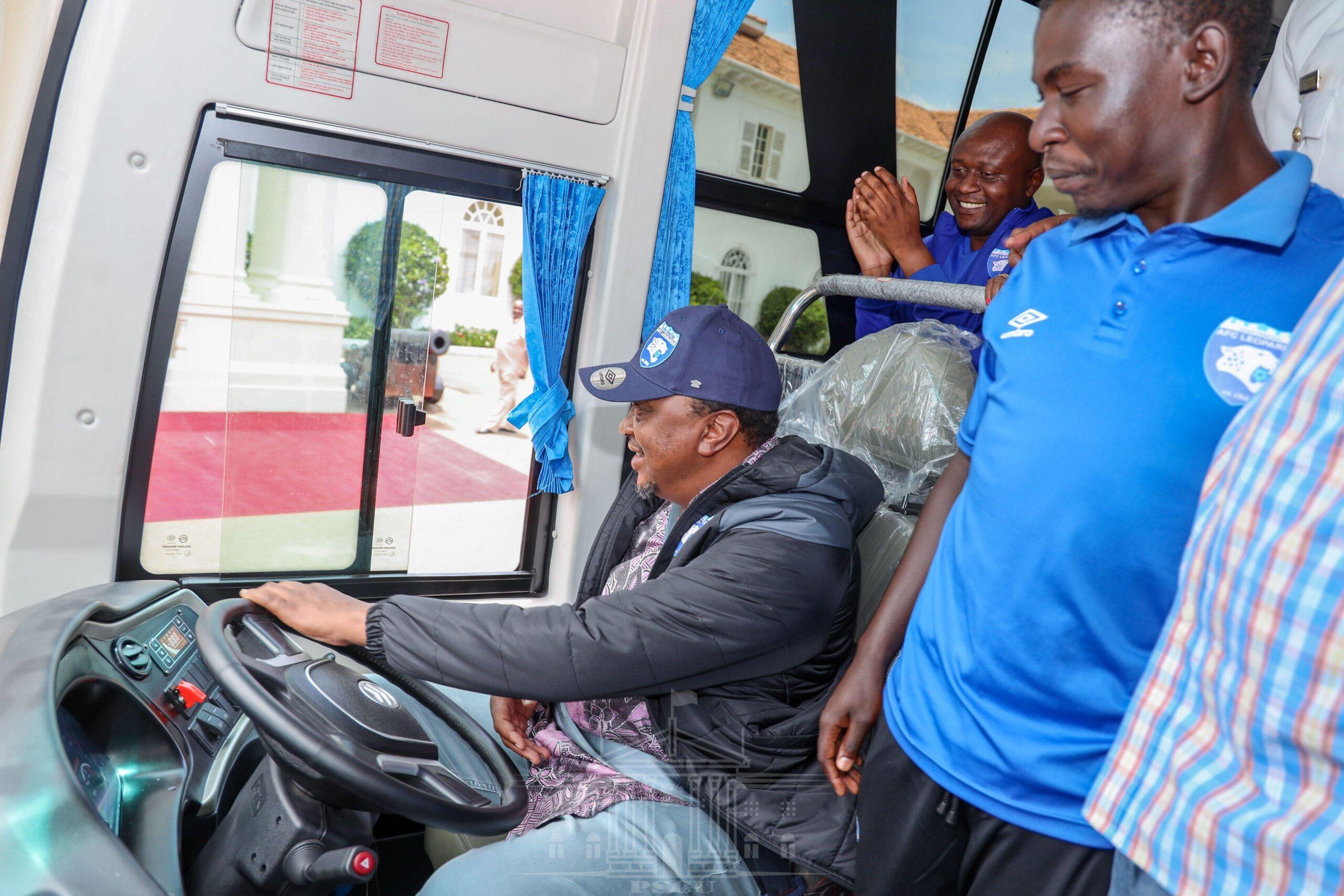 Uhuru Donates Buses to Schools and Community Groups
