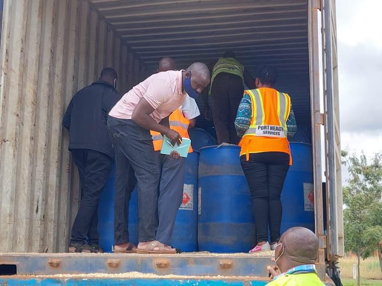 KRA Intercepts 157,000 litres of Ethanol in Nairobi