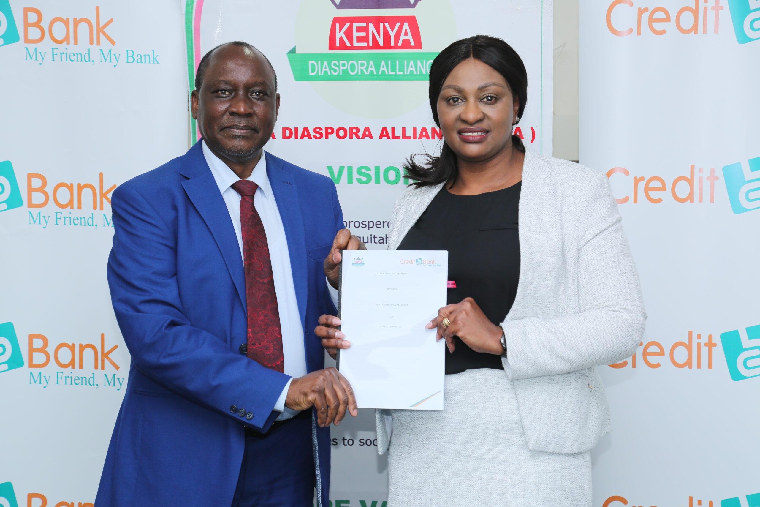 Credit Bank Inks Deal to Empower Kenyans in Diaspora