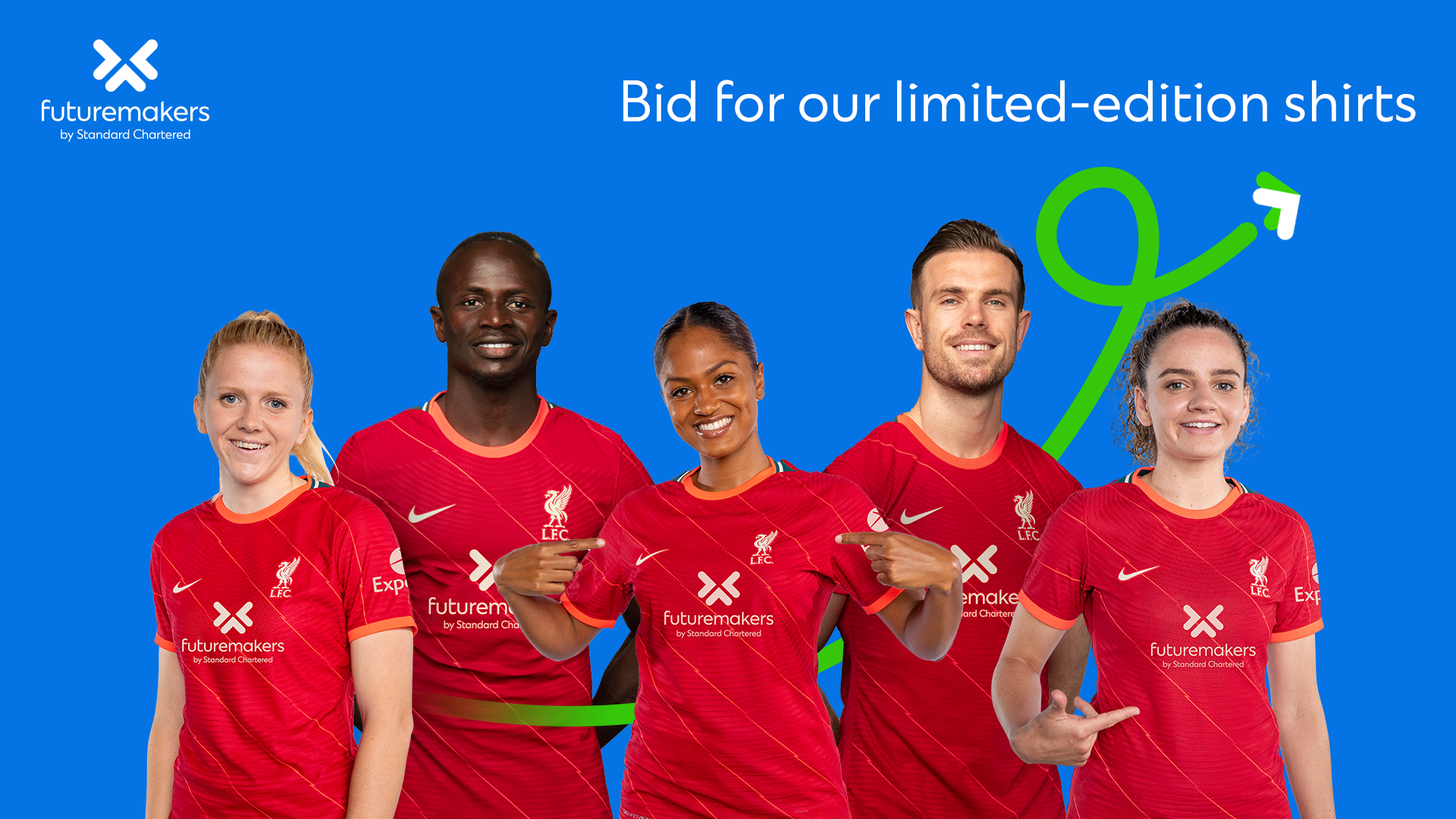 Standard Chartered to Auction Liverpool Futuremakers Jerseys for Charity