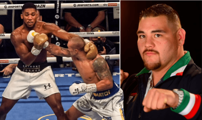 Andy Ruiz claims Anthony Joshua was 'scared' during fight against Oleksandr Usyk